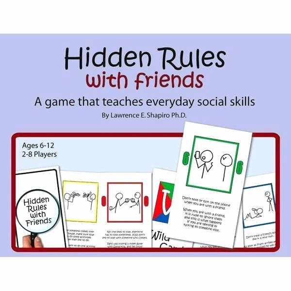Social Skills Making Friends Worksheets Lovely Hidden Rules with Friends Card Game Product Image aspergers
