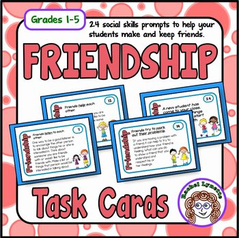 Social Skills Making Friends Worksheets Unique Friendship Cards social Skills Prompts