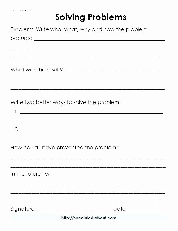 Social Skills Worksheets for Kindergarten social Skills Worksheets for Teens Life Awesome Hi Res