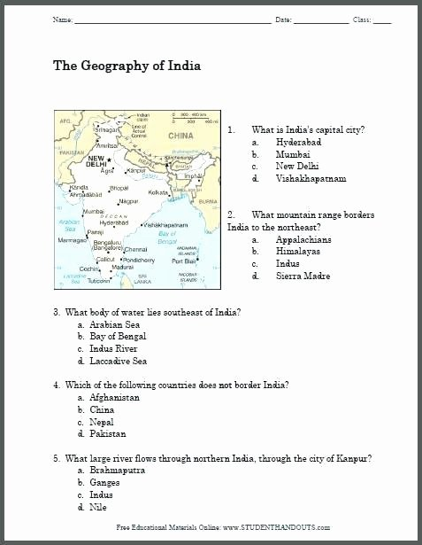 Social Studies Worksheets 7th Grade Geography Printable Map Worksheet social Stu S