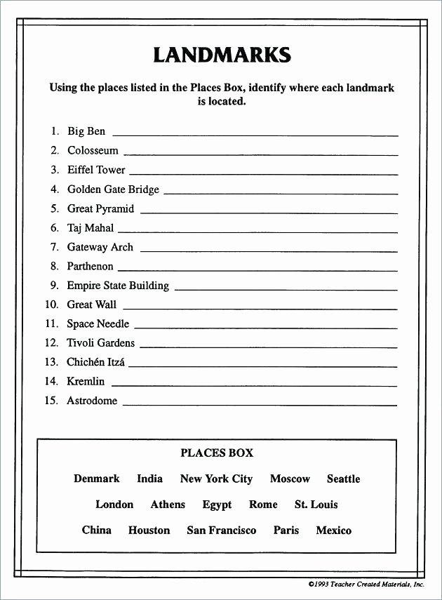 Social Studies Worksheets Pdf Grade social Stu S Worksheets Free Printable Seventh