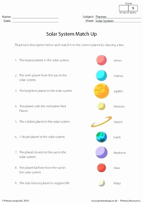 Solar System Worksheets 5th Grade Awesome solar System Grade 3 Worksheets Sun Facts Worksheet Grade