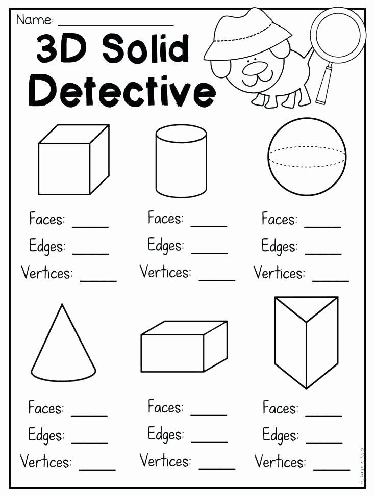 Solid Figures Worksheet 1st Grade Geometry Worksheets – Katyphotoart