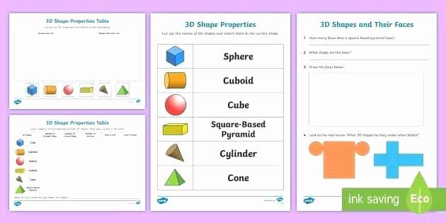 Solid Figures Worksheet Properties Of 3d Shapes Worksheets – Slaterengineering