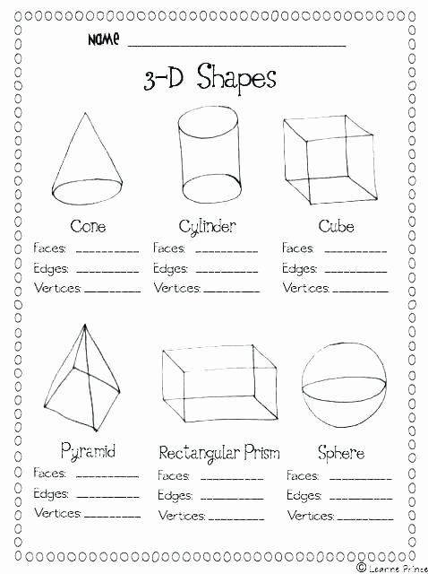 Solid Shapes Worksheets for Kindergarten Geometric Shapes Worksheets for Kindergarten