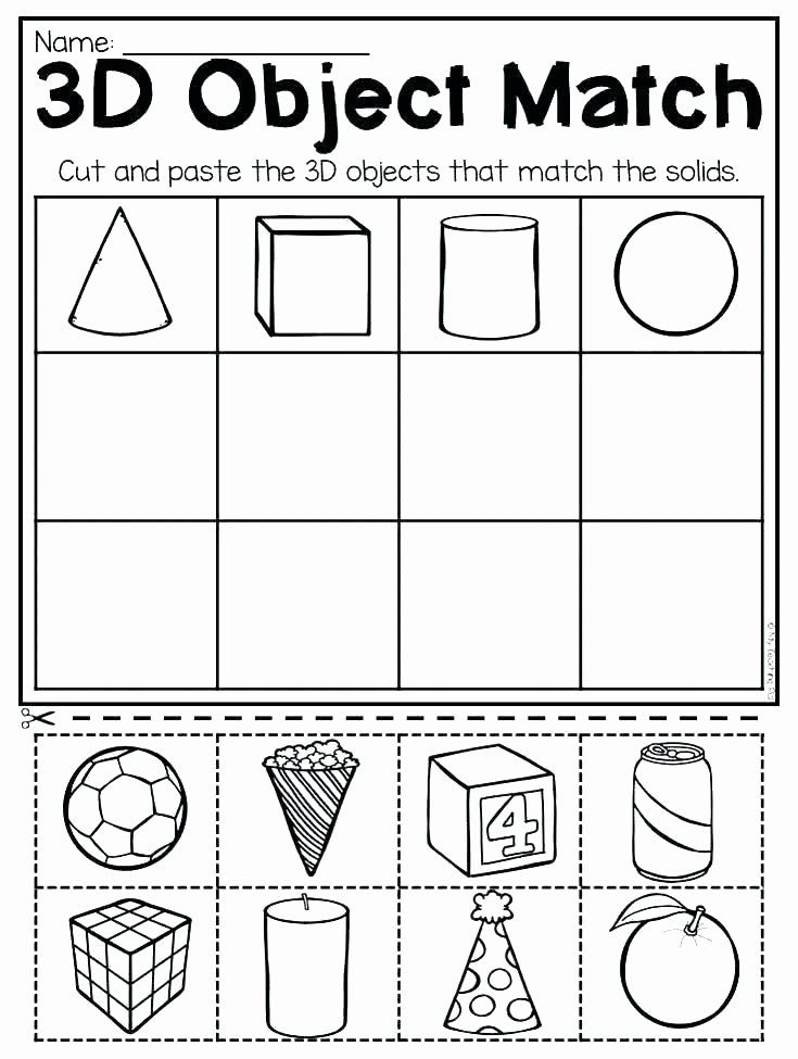 Solid Shapes Worksheets for Kindergarten Properties solid Figures Worksheets solid Figures Worksheets
