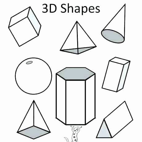 Solid Shapes Worksheets for Kindergarten Three Dimensional Shapes Worksheets 3 Figures Congruent
