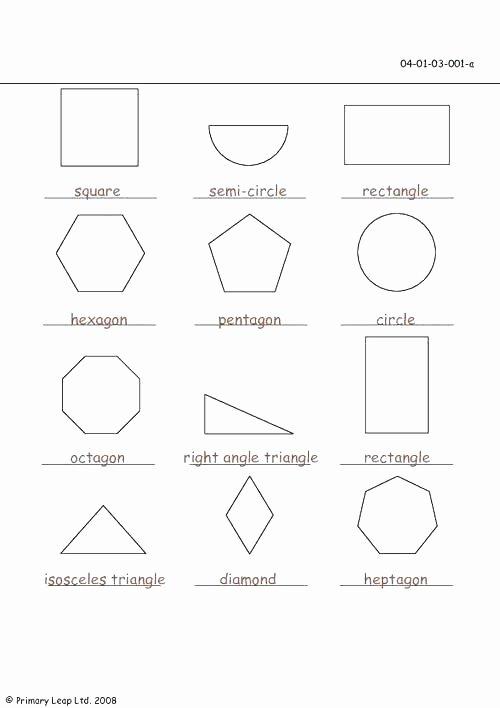 Sorting Shapes Worksheets First Grade 2nd Grade Shapes Worksheets