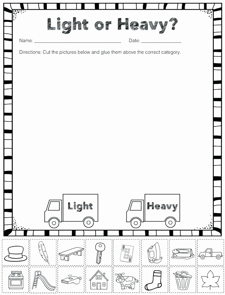 free heavy and light sorting activity preschool categorizing worksheets for kindergarten categorizing worksheets for 1st grade categorizing worksheets