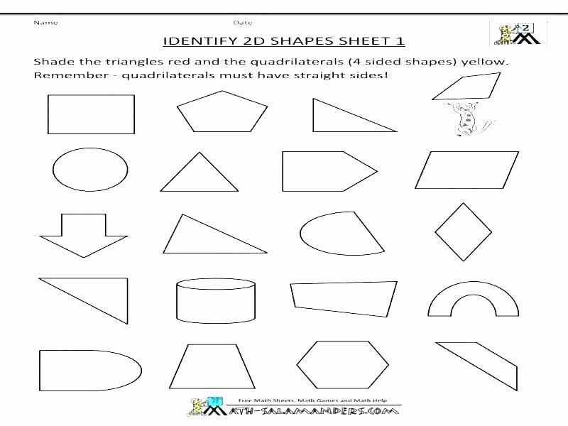 Sorting Shapes Worksheets First Grade Geometric Shapes Worksheets