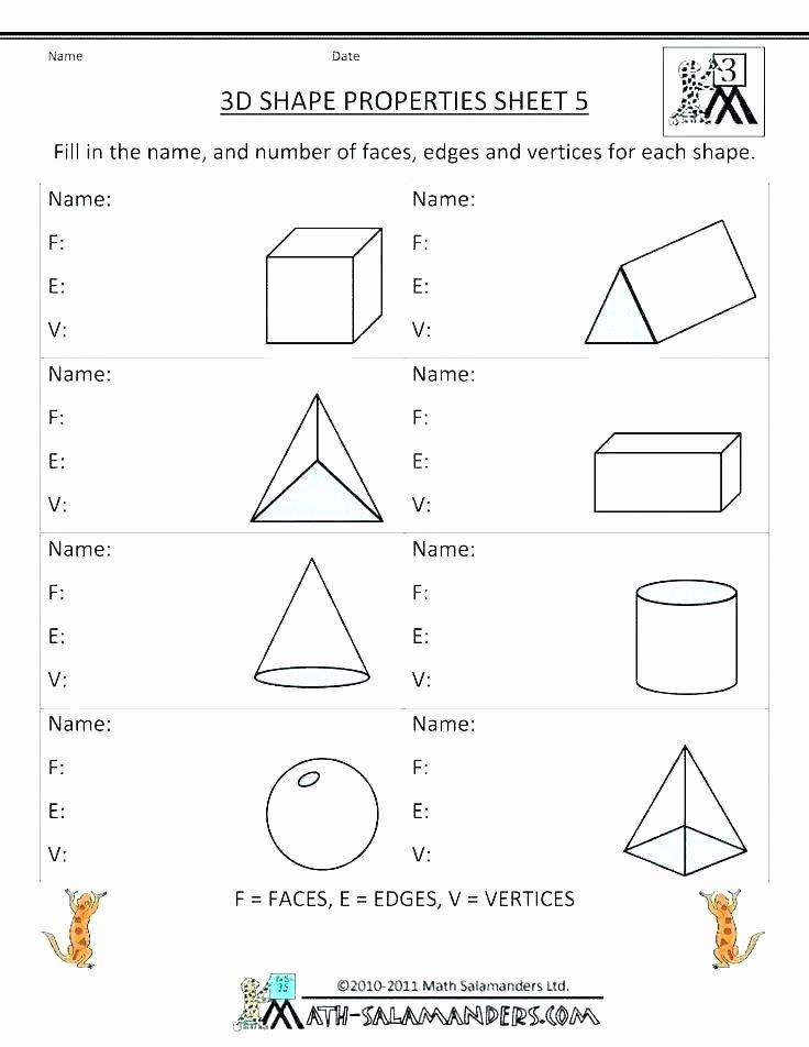 Sorting Shapes Worksheets First Grade Shape attributes Worksheets – Primalvape