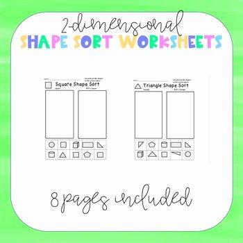 Sorting Shapes Worksheets First Grade Shape sorting Worksheet
