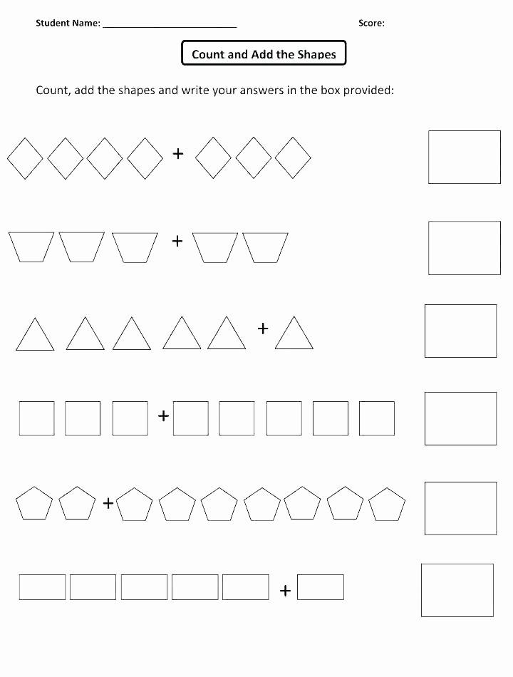 Sorting Shapes Worksheets First Grade Shape Worksheets for Kindergarten the Best Image Collection