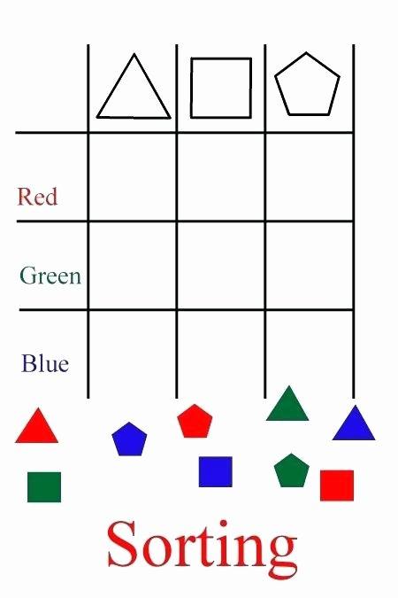 Sorting Shapes Worksheets First Grade sorting Shapes Worksheets organized by Grade Level for Your