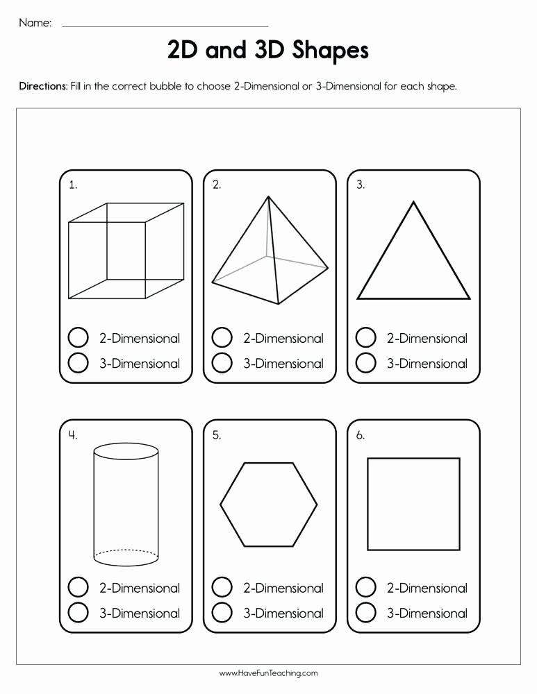 Sorting Shapes Worksheets for Kindergarten 2 and 3 Dimensional Shapes Worksheets