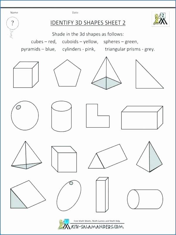 Sorting Shapes Worksheets for Kindergarten Flat solid Shapes Shape sort Geometry Worksheets