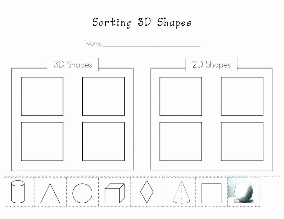 Sorting Shapes Worksheets for Kindergarten Shapes Worksheets for Grade 2 Math Shape Geometry