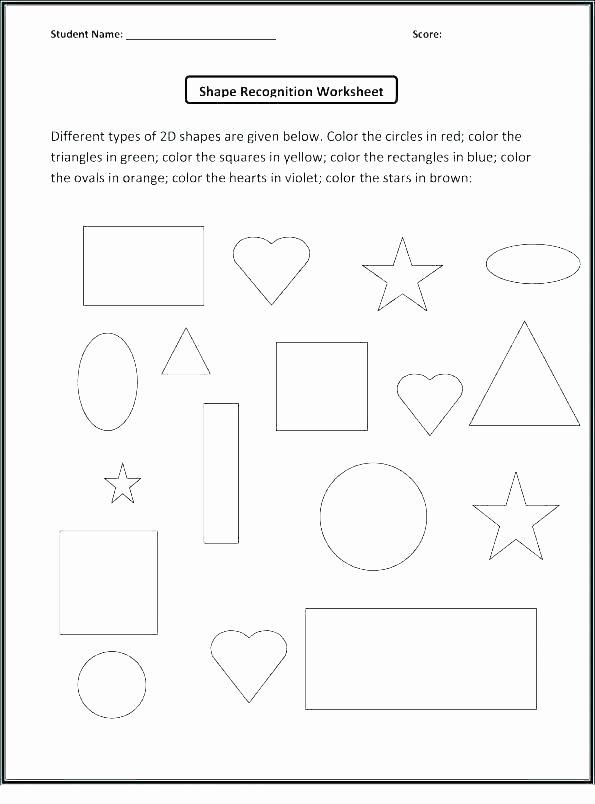 Sorting Shapes Worksheets Geometry for 1st Grade Worksheets