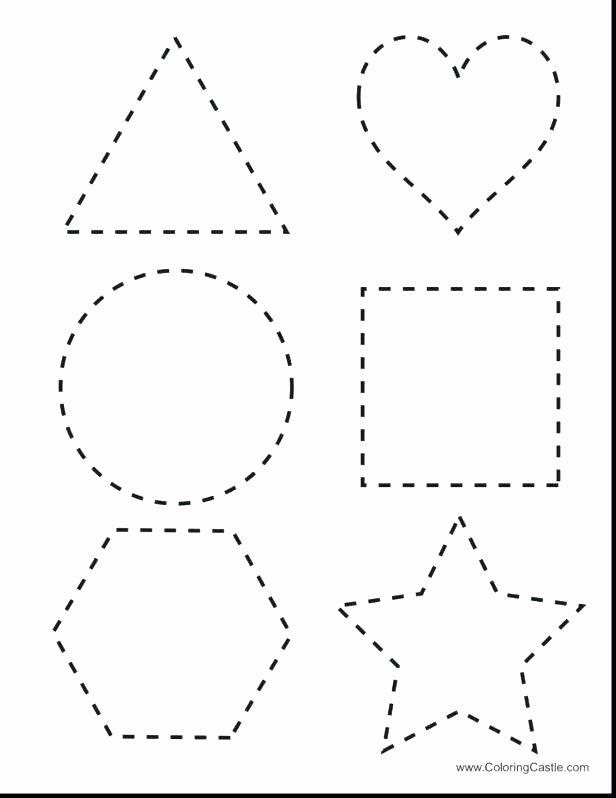 Sorting Shapes Worksheets Tracing Shapes Worksheet Free Printable Worksheets