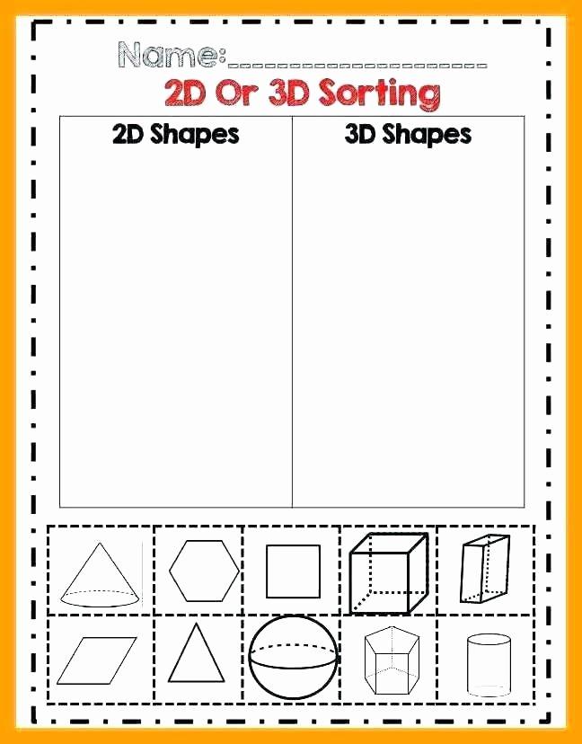 Sorting Worksheets for First Grade 2nd Grade 2d Shapes Worksheets