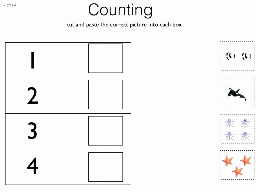 Sorting Worksheets for First Grade Free sorting Worksheets Kids Cut and Paste Math Worksheet K