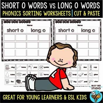 Sorting Worksheets for First Grade Long O Worksheets