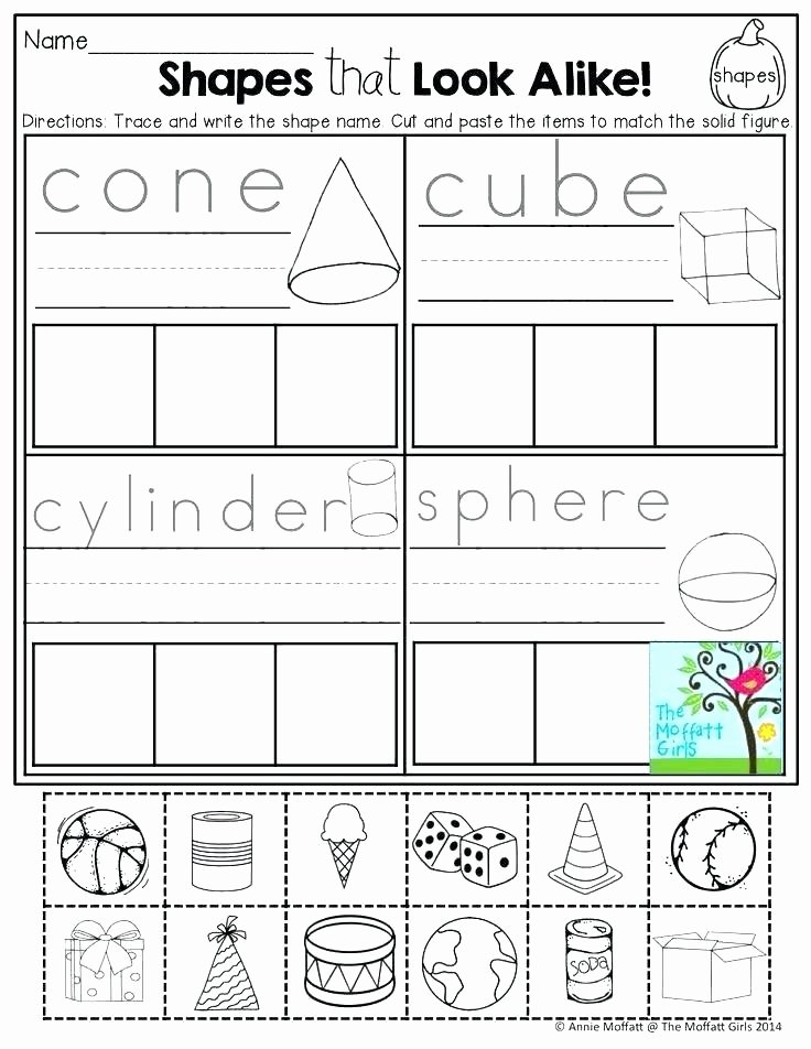 Sorting Worksheets for First Grade Pre K Shapes Worksheets