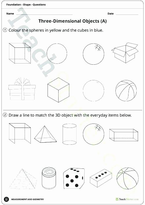 Sorting Worksheets for First Grade Shapes Worksheet Have Fun Teaching Free 2 and 3