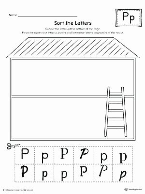 Sorting Worksheets for Kindergarten Free Printable Preschool Letter Worksheets P Recognition for