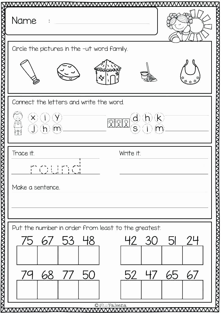 Sorting Worksheets for Kindergarten Free Word Family Worksheets for Kindergarten Review Picture