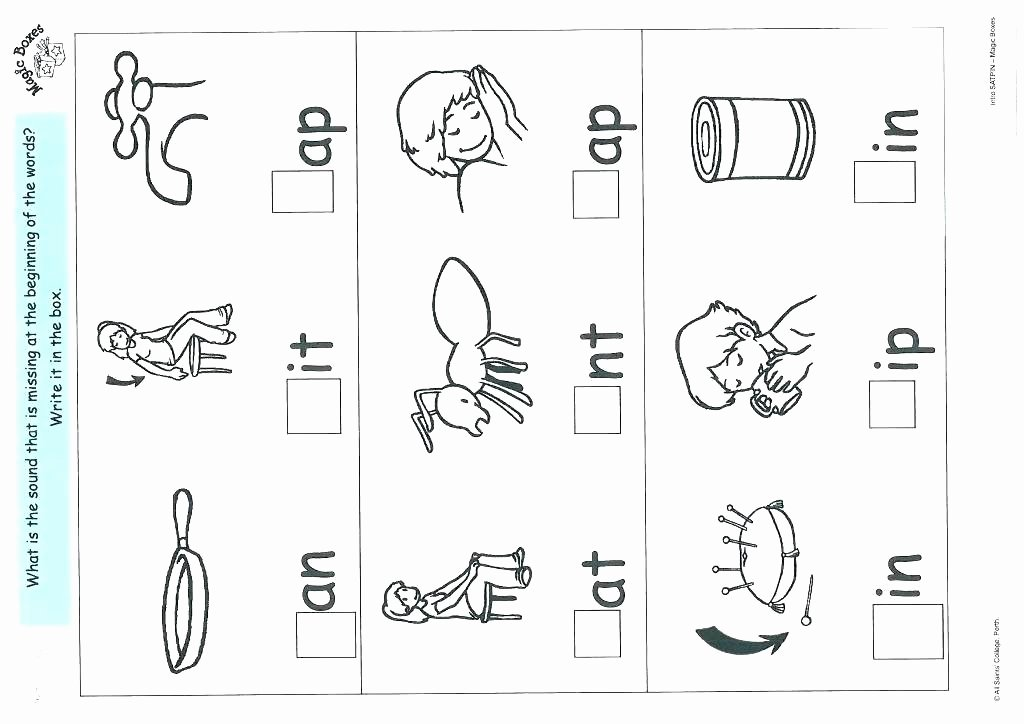 Sorting Worksheets for Kindergarten Phonics Worksheets for Kids