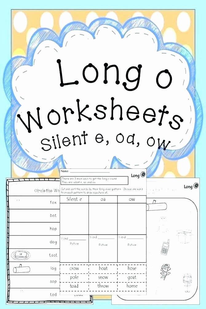 Sounding Out Words Worksheets Inspirational sounding It Out Silent E Rule Worksheet Long O Worksheets 2