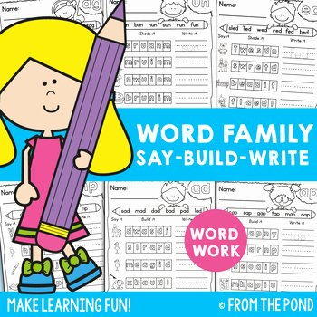 Sounding Out Words Worksheets Inspirational Word Family Worksheets Say It Build It Write It