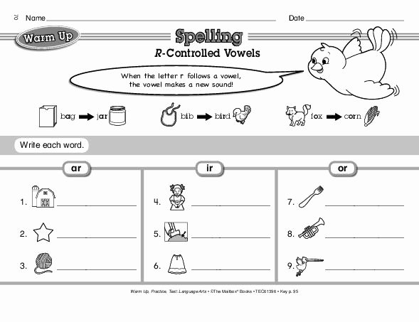 Sounding Out Words Worksheets Lovely Spelling R Controlled Vowels the Student Will Learn How to