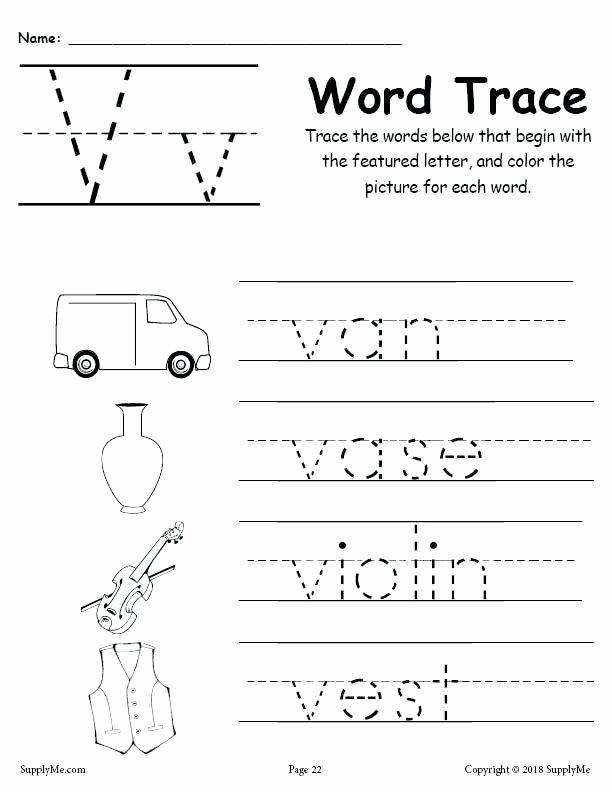 Sounding Out Words Worksheets New Free Letter V Worksheets