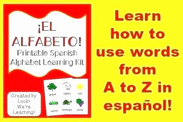 Spanish Alphabet Chart Printable Spanish Alphabet Worksheets Alphabet Worksheets for