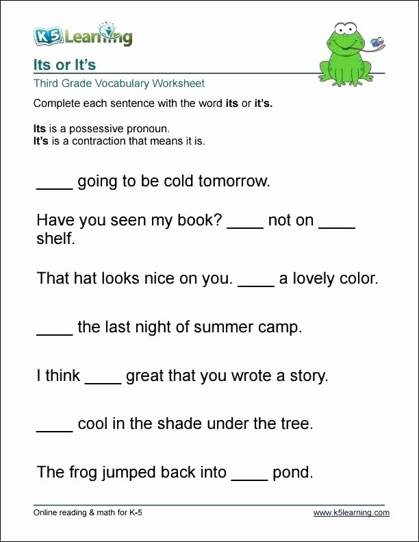 Spanish Contractions Worksheet Daily Language Practice Worksheets Printable Grade Free for