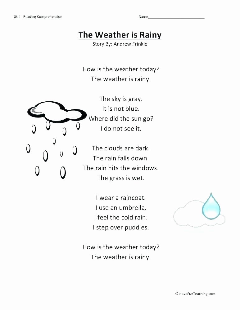 Spanish Kindergarten Worksheets Weather Expressions In Spanish Worksheets