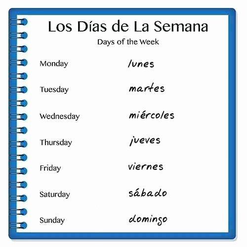 Spanish Phonics Worksheets Inspirational Days Week Sixth Grade Spanish Worksheets 6th