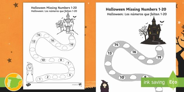 Spanish Phonics Worksheets Lovely Learning Spanish Worksheets Unique Halloween Missing Numbers