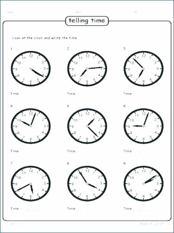 Spanish Phonics Worksheets New Worksheet for Telling Time Worksheets Kids Free Class 1