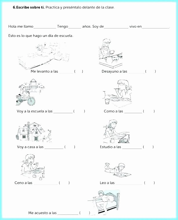 Spanish Present Progressive Practice Worksheet Luxury English Spanish Worksheets for Beginning Indirect Object