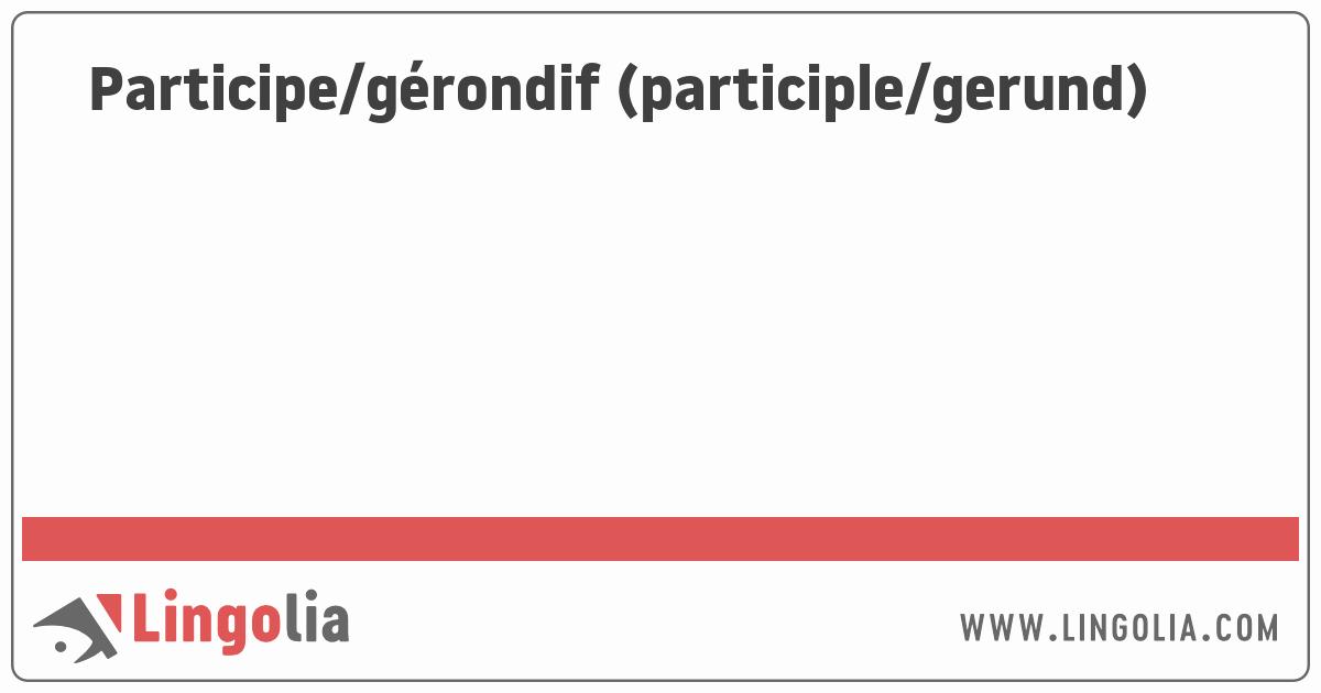 Spanish Present Progressive Worksheets Participe Gérondif Participle Gerund