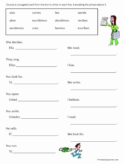 Spanish Reflexive Verbs Worksheet Printable Printable Spanish Worksheets for Kids