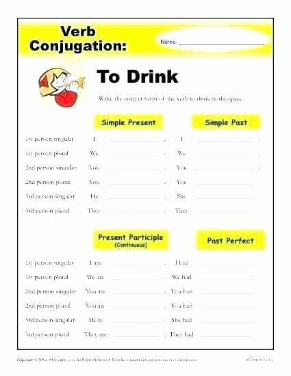 Spanish Verb Conjugation Worksheets Printable Spanish Conjugation Worksheets