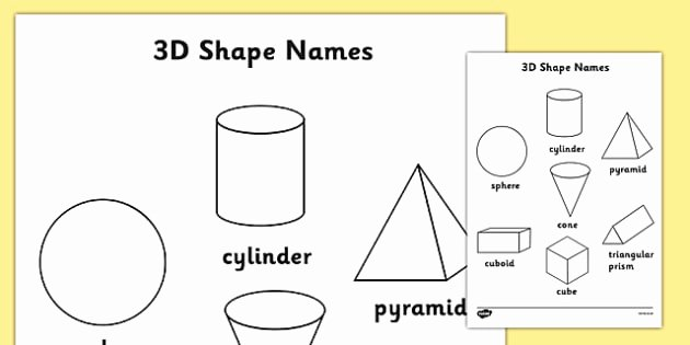 Spatial Reasoning Worksheets 3d Shapes Words Coloring Sheets 2d Shape Coloring Wet
