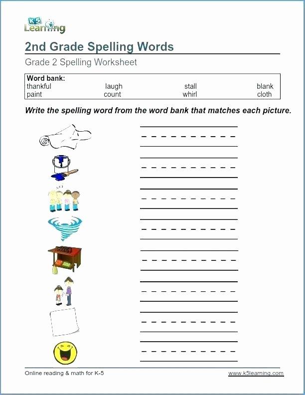 Spelling Worksheets 2nd Graders 7th Grade Spelling Worksheets
