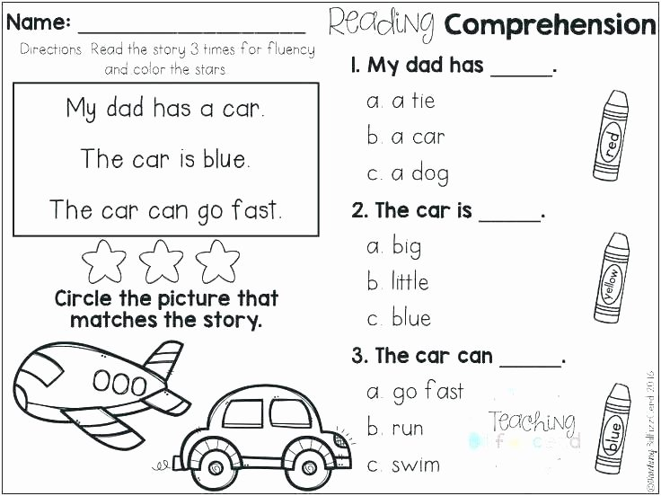 Spring Comprehension Worksheets Kindergarten Prehension Worksheets Reading Free