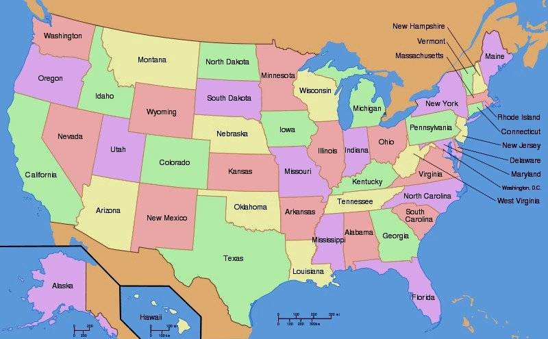State Capitals Quiz Printable States Map Quiz Game Usa State Capitals Map Beautiful Map