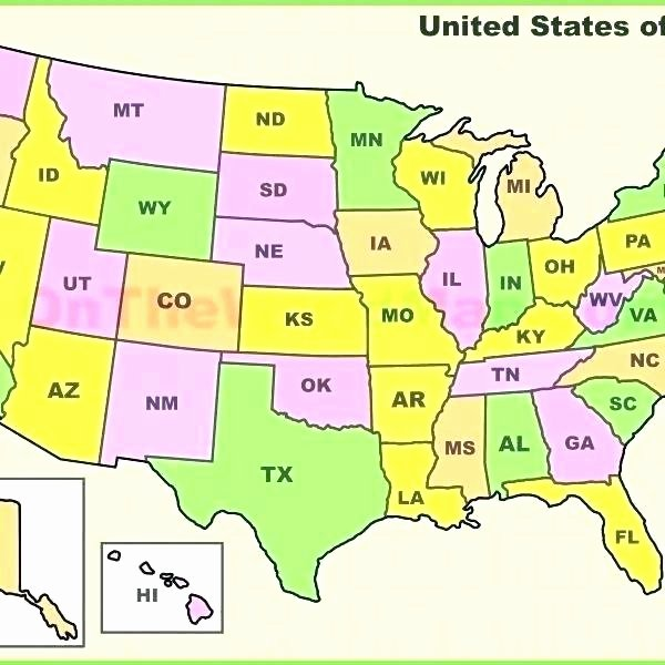 State Quiz Printable Map Of the 50 States and Capitals – Zetavape